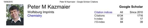 Kazmaier Google Scholar