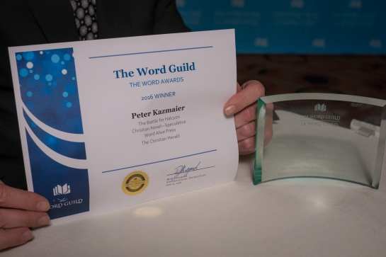 2016 Word Award Certificate and Award
