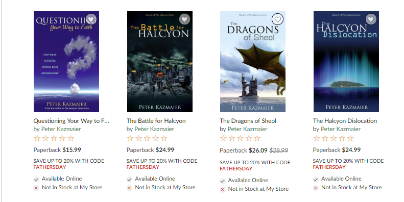 The first listing of THE DRAGONS OF SHEOL